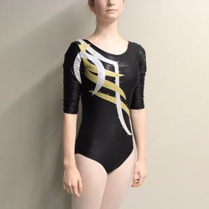 3/4 sleeve competition gymnastics leotard